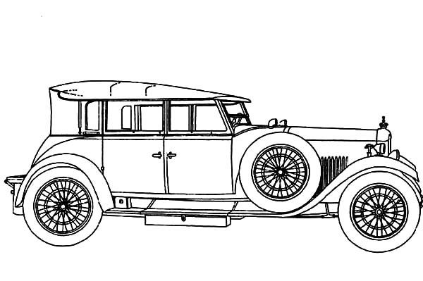 Model t Car, Model T Car Coloring Pages For Kids: Model T Car Coloring Pages for Kids
