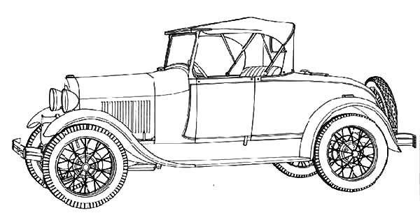Model t Car, Model T Car Ford 1928 Coloring Pages: Model T Car Ford 1928 Coloring Pages