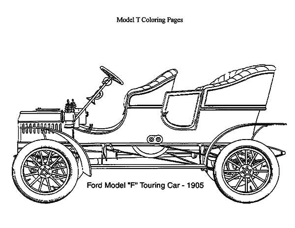 Model T Car Touring 1906 Coloring Pages: Model T Car Touring 1906 ...