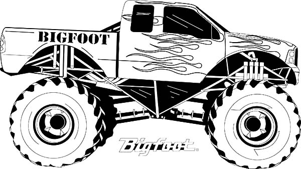 Monster Jam, Monster Jam Coloring Pages For Kids: Monster Jam Coloring Pages for Kids