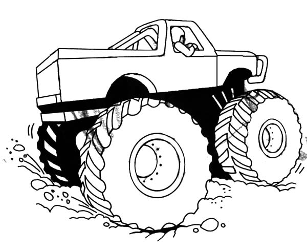 Monster Jam, Monster Jam Competition Coloring Pages: Monster Jam Competition Coloring Pages