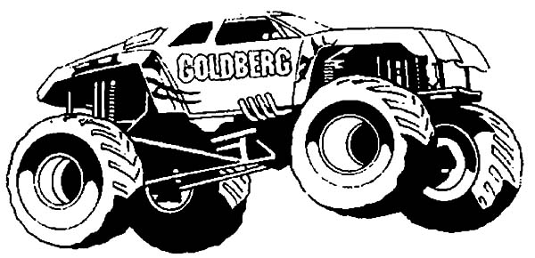 monster jam monster jam goldberg monster truck coloring pages monster jam goldberg monster truck - Monster Truck Coloring Page