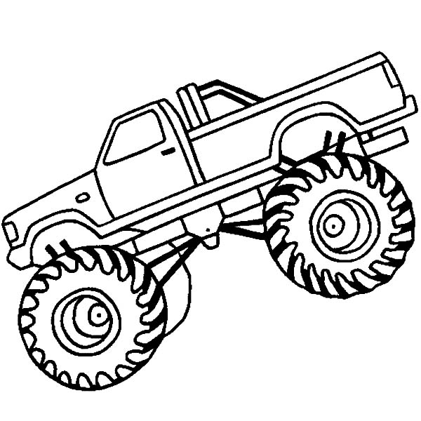 Awesome Monster Truck in Monster Jam Coloring Pages | Color Luna