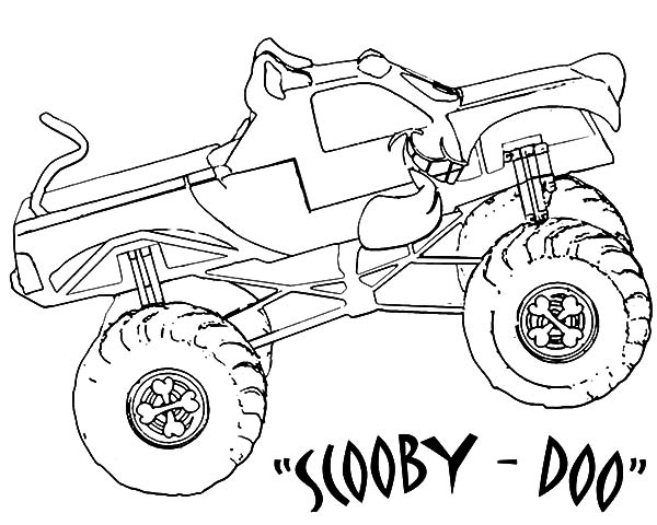 Monster Jam Scooby Doo Monster Truck Coloring Pages: Monster Jam ...