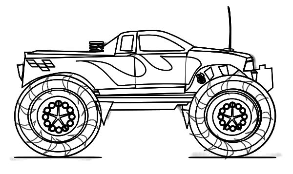 Monster Car Coloring Pages Coloring Pages