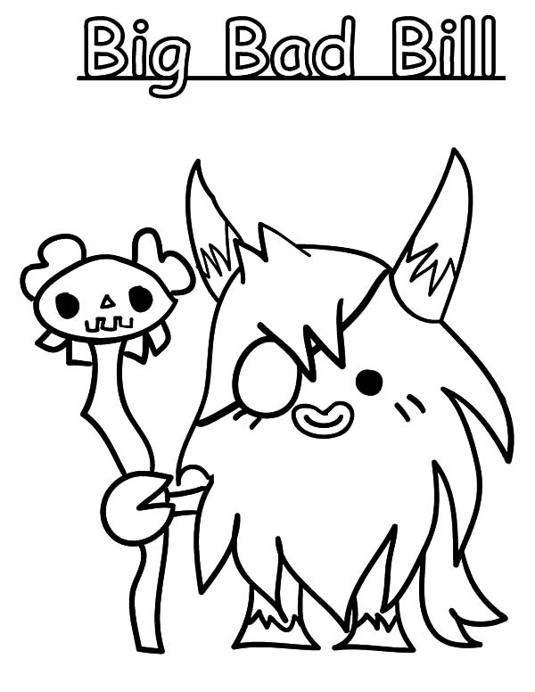 moshi monster big bad bill coloring pages