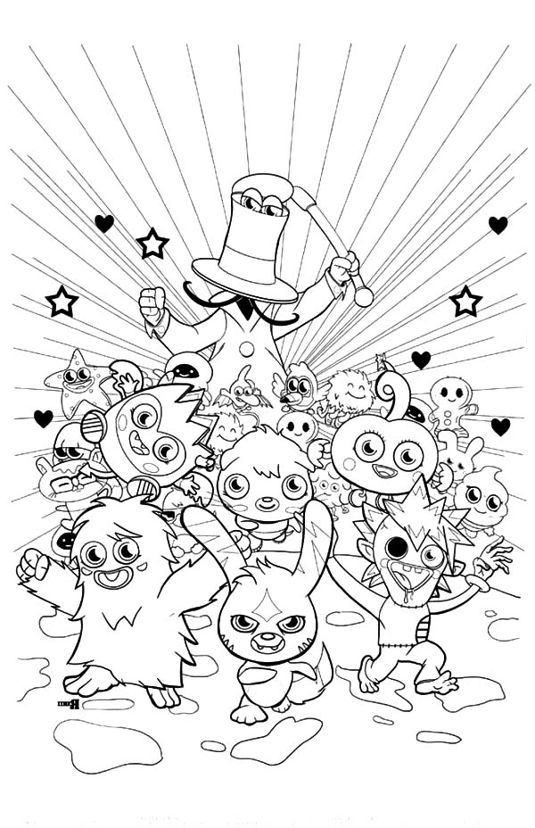 Moshi, Moshi Monster Fun Time Coloring Pages: Moshi Monster Fun Time Coloring Pages