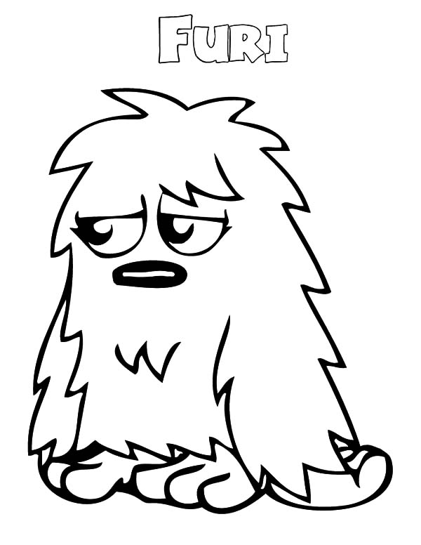 Moshi, Moshi Monster Furi Coloring Pages: Moshi Monster Furi Coloring Pages