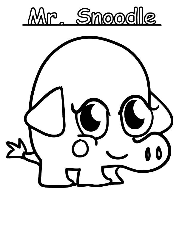 Moshi, Moshi Monster Mr Snoodle Coloring Pages: Moshi Monster Mr Snoodle Coloring Pages