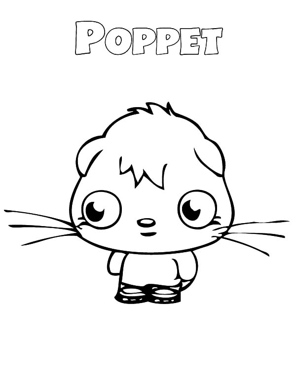 Moshi, Moshi Monster Poppet Look Sad Coloring Pages: Moshi Monster Poppet Look Sad Coloring Pages