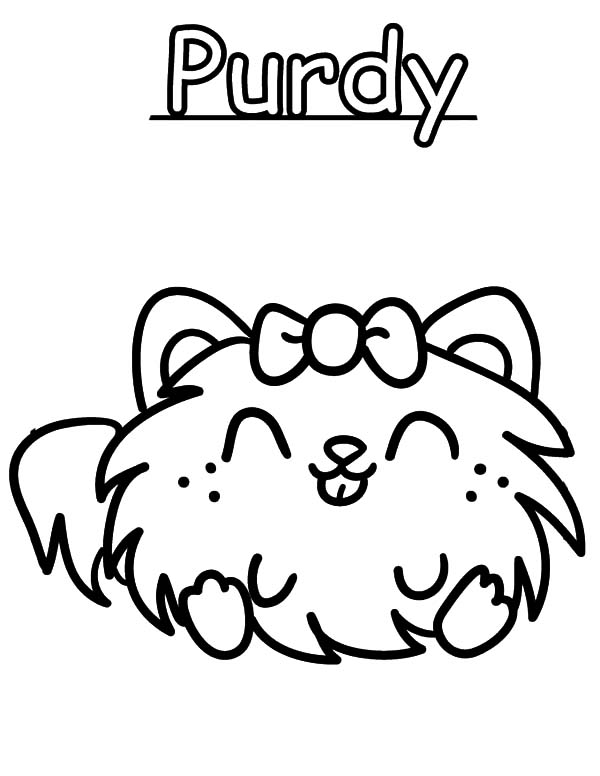 Moshi Monster Purdy Coloring Pages Color Luna
