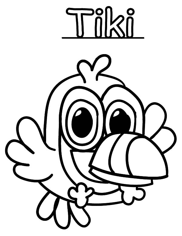 One Tooth Furi Moshi Monster Coloring Pages Color Luna