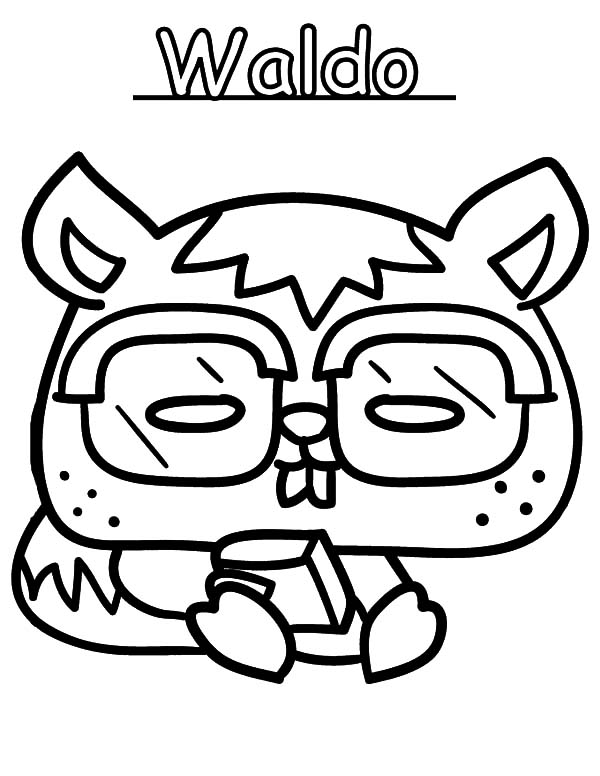Moshi, Moshi Monster Waldo Coloring Pages: Moshi Monster Waldo Coloring Pages