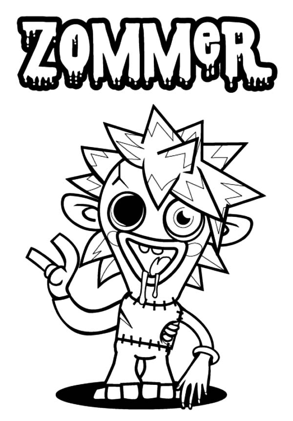 Moshi, Moshi Monster Zommer Coloring Pages: Moshi Monster Zommer Coloring Pages