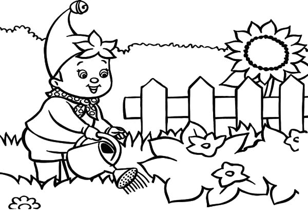 Noddy Waters the Garden Coloring Pages Color Luna