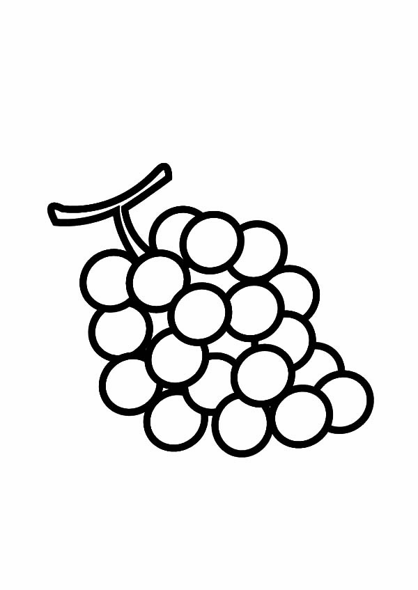 Grapes, : Nutrious Fruit Grapes Coloring Pages