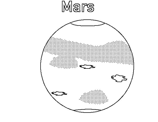 Mars, Phobos And Deimos Of Planet Mars Coloring Pages: Phobos and Deimos of Planet Mars Coloring Pages