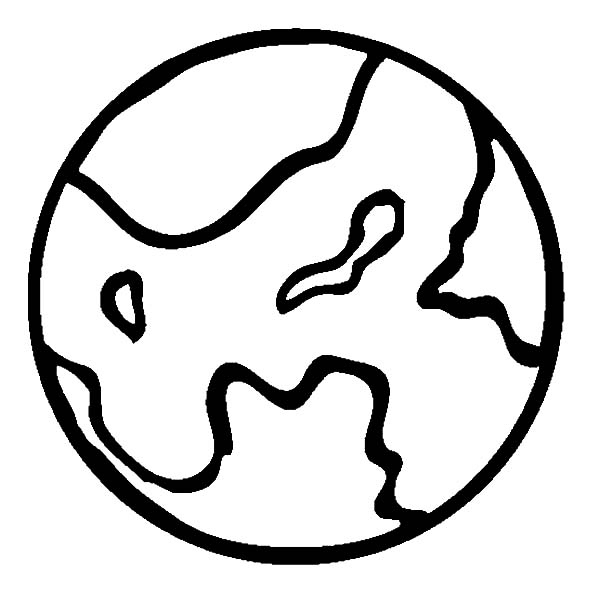 Mars, Planet Mars Outline Coloring Pages: Planet Mars Outline Coloring Pages
