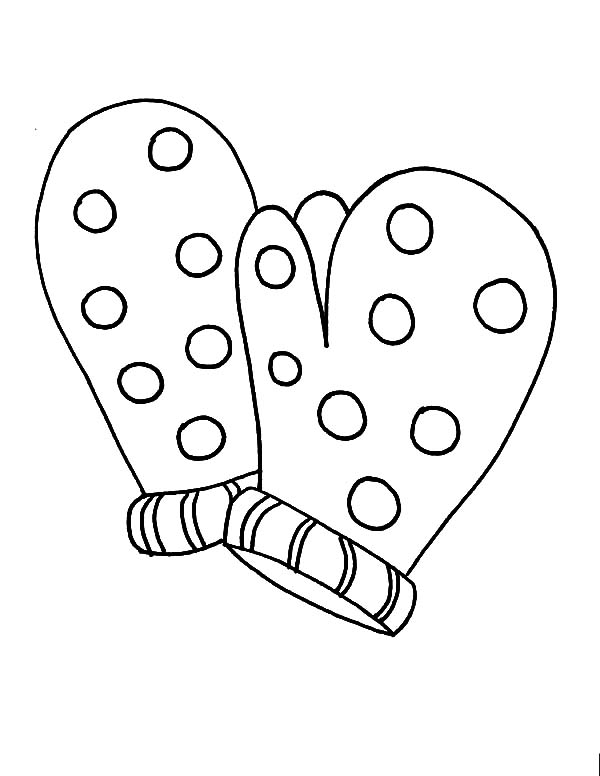 Snowflake Mittens Coloring Pages  Color Luna