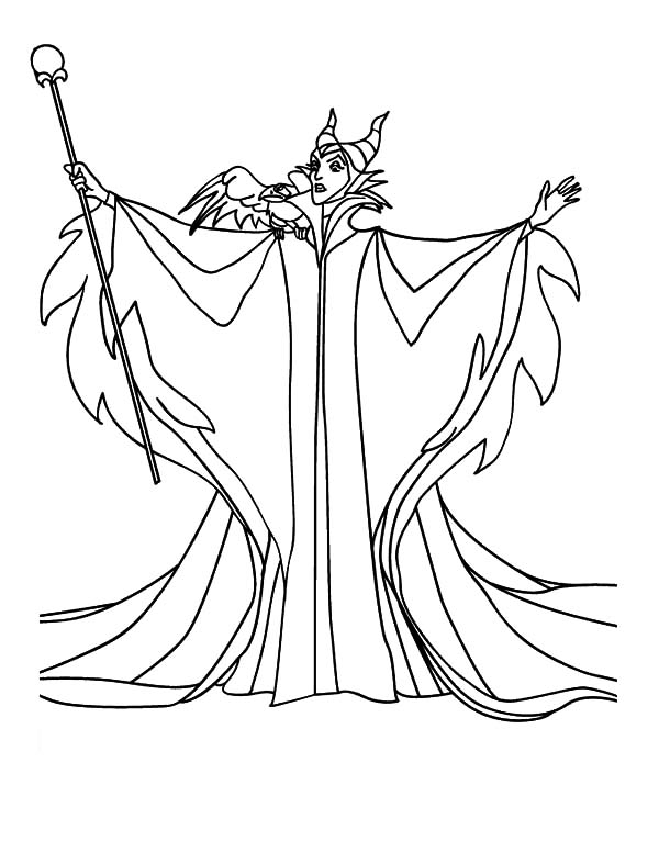 Free printable coloring pages part 52 for Maleficent coloring pages