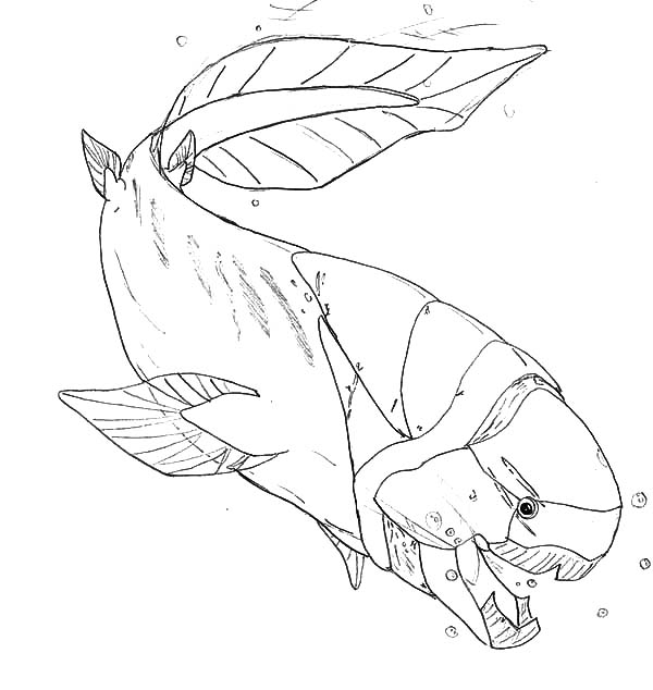 Monster Fish In The Deep Sea Coloring Pages