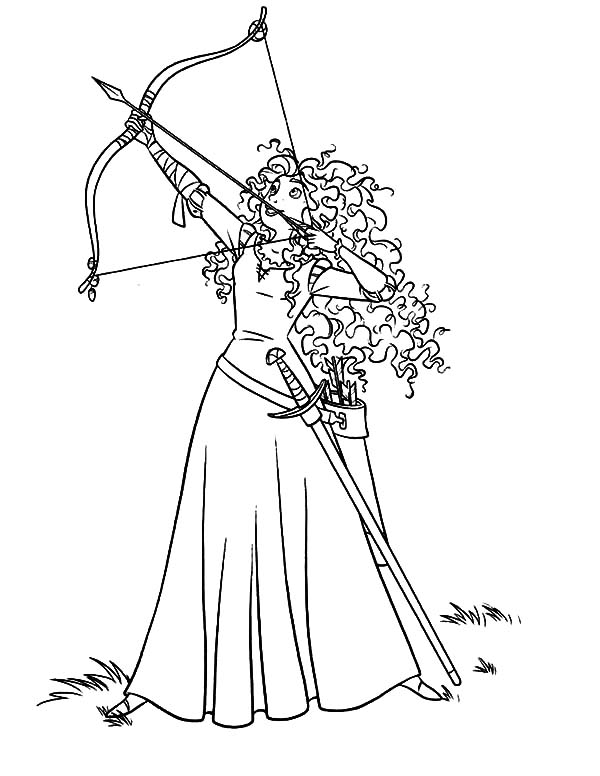 Merida, Princess Merida Coloring Pages: Princess Merida Coloring Pages
