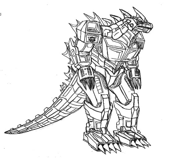 robot godzilla coloring pages - Robot Coloring Page