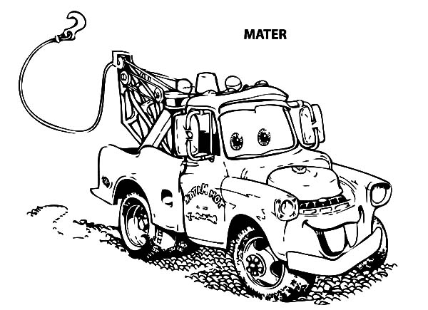 Sir Mater An Old Tow Car Coloring Pages
