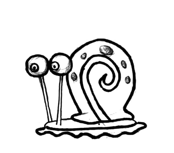 Gary, Sketch Gary The Snail Coloring Pages: Sketch Gary the Snail Coloring Pages