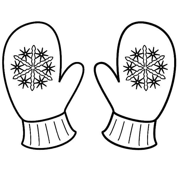 Snowflake Mittens Coloring Pages | Color Luna