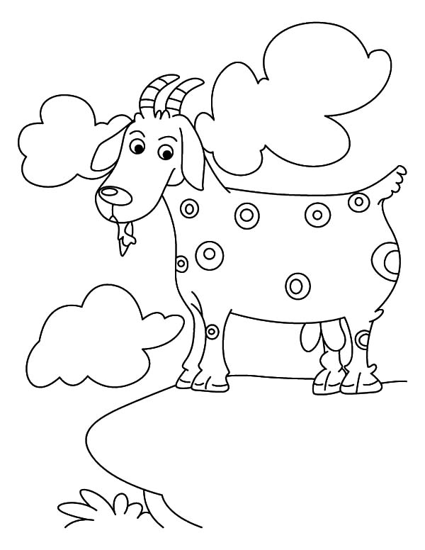 Mountain Goat, Spotted Mountain Goat Coloring Pages: Spotted Mountain Goat Coloring Pages