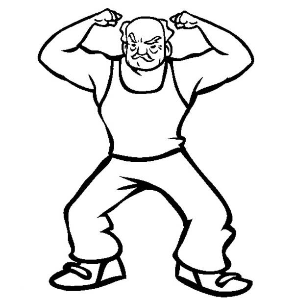 free strong man coloring pages - photo#14