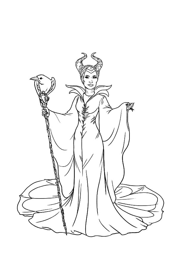 The Evil Maleficent Coloring Pages Color Luna