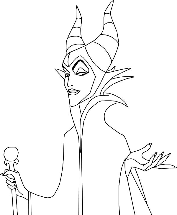 Maleficent setting for scheming coloring pages maleficent for Maleficent coloring pages