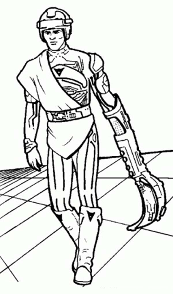Tron, : The Young Kevin Flynn Tron Coloring Pages