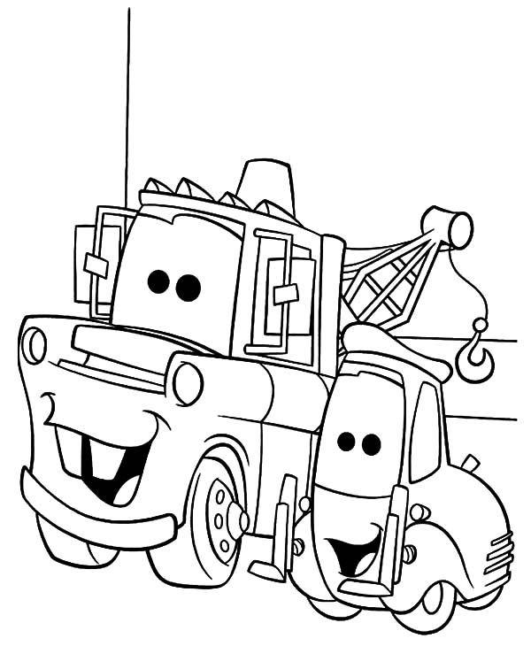 mater and lightning mcqueen coloring pages disney cars