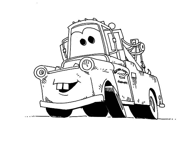 Tow Mater Coloring Pages  Color Luna