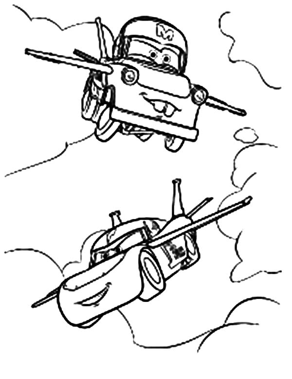 mater coloring pages - tow mater flying coloring pages color luna