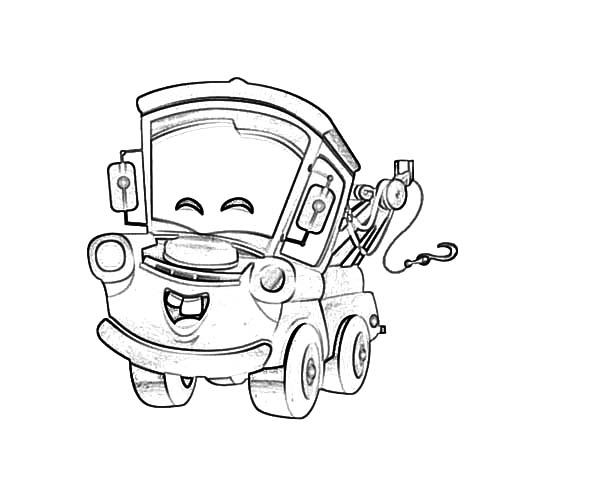 tow mater happy face coloring pages