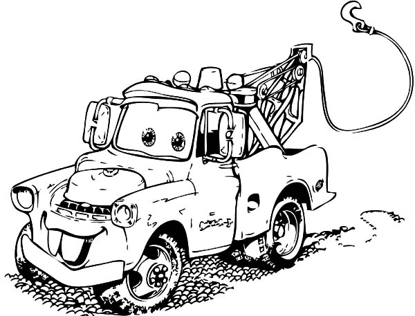 Mater, Tow Mater Is Very Dirty Coloring Pages: Tow Mater is Very Dirty Coloring Pages