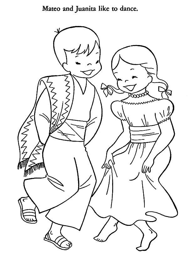 Traditional Mexican Dress Coloring Pages