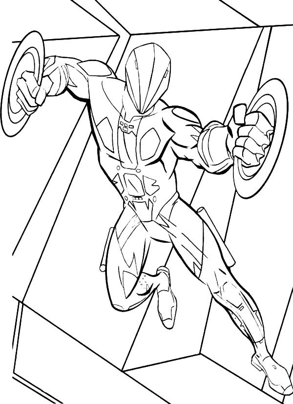 Tron, Tron Double Blade Enemy Weapon Coloring Pages: Tron Double Blade Enemy Weapon Coloring Pages