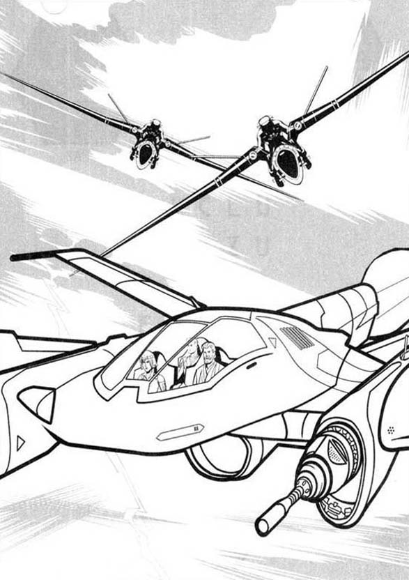 Tron, Tron Legacy Chased By Flying Enemy Coloring Pages: Tron Legacy Chased by Flying Enemy Coloring Pages