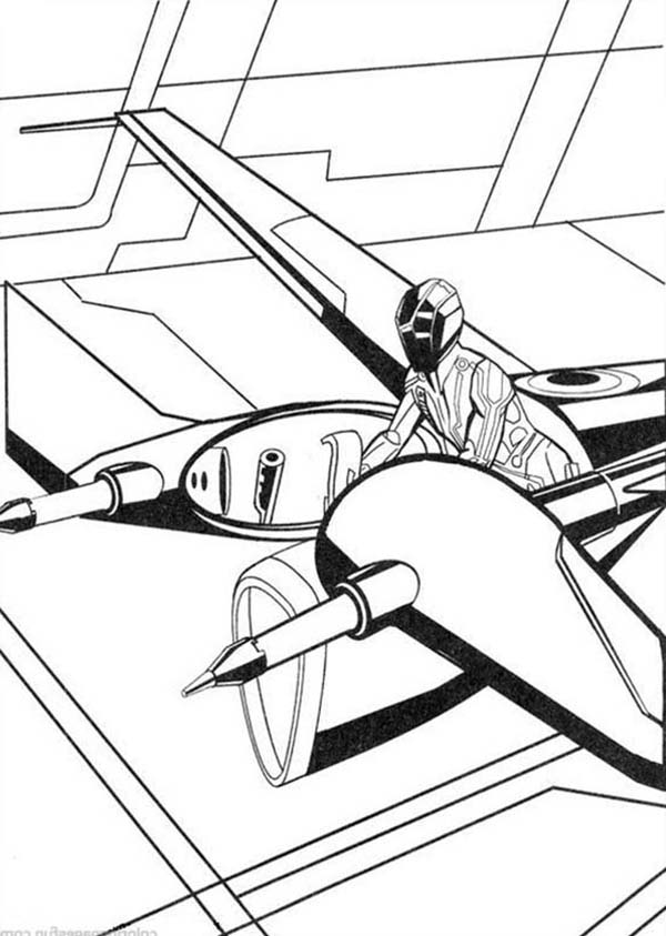 Tron, : Tron Legacy Flying Troops Coloring Pages