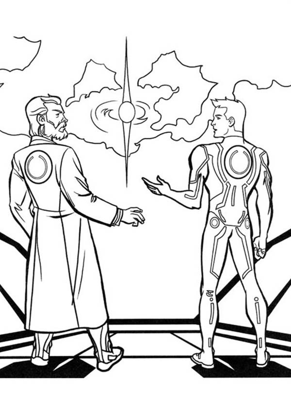 Tron, Tron Legacy Kevin and Sam Flynn Coloring Pages: Tron Legacy Kevin And Sam Flynn Coloring PagesFull Size Image