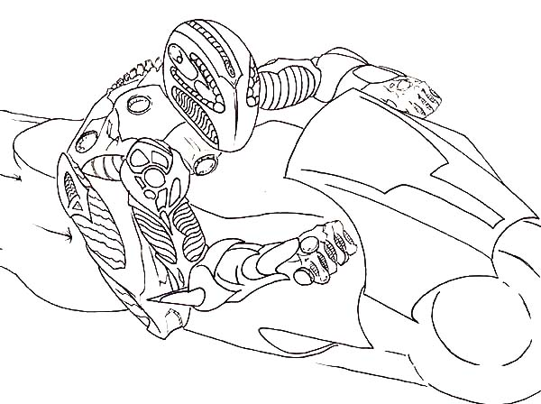 Tron, : Tron Legacy Light Cycle Match Coloring Pages