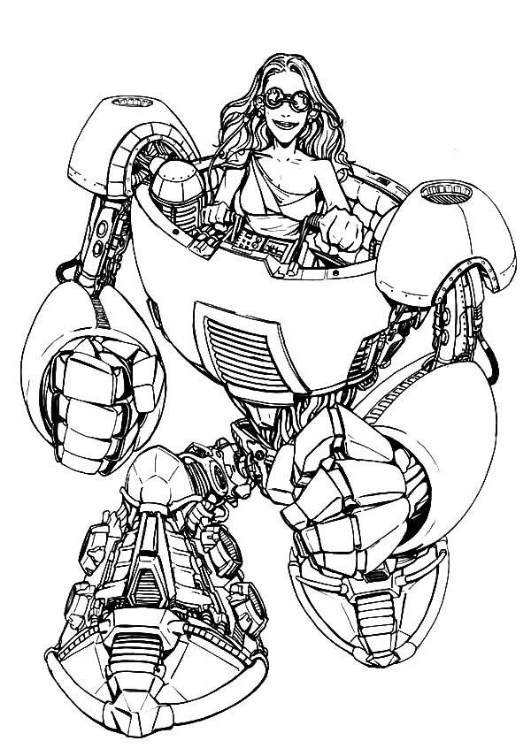 Tron Legacy Riding Robot Coloring Pages