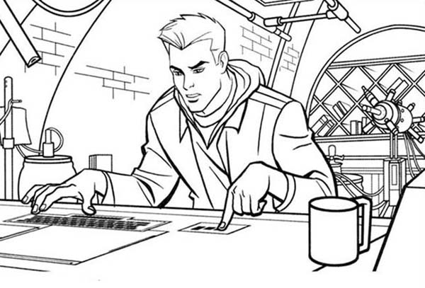 Tron, : Tron Sam Flynn Operate Computer Coloring Pages