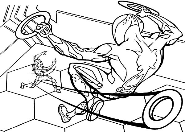 tron coloring pages - tron sam throw his blade coloring pages color luna