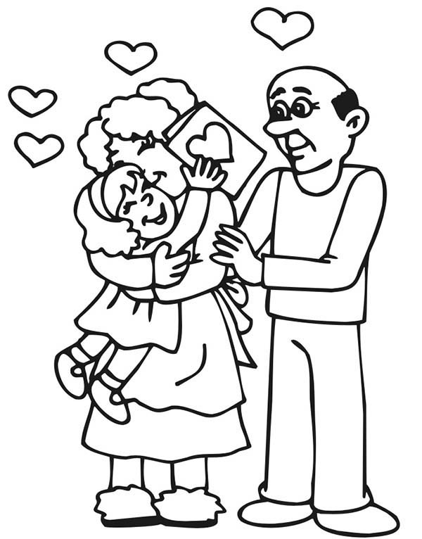 Grandfather, Valentine For Grandfather And Grandmother Coloring Pages: Valentine for Grandfather and Grandmother Coloring Pages